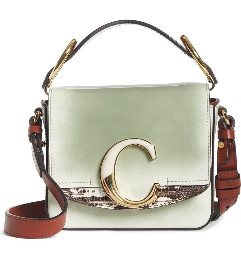 Chloé Mini C Leather Shoulder Bag