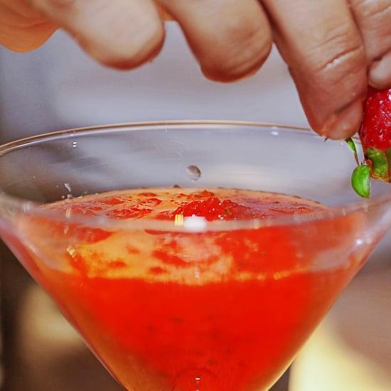 Strawberry Kefir Mocktail Daiquiri Recipe