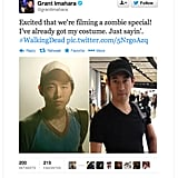 Grant Imahara of MythBusters gets ready for Zombieland.