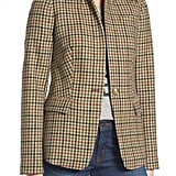 J.Crew Houndstooth Plaid Blazer