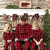 SleepytimePjs Family Matching Plaid Fleece Onesie Pajamas