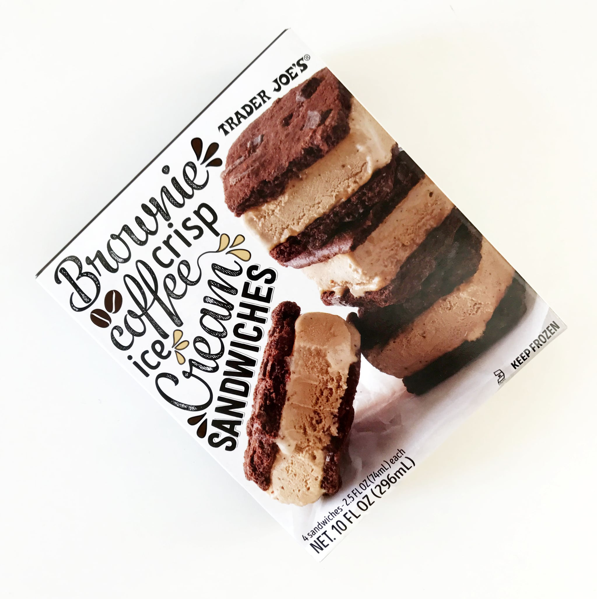 New Ice Is By Far Best >> Trader Joe S Brownie Crisp Coffee Ice Cream Sandwiches Popsugar Food