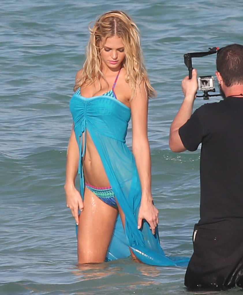 Erin Heatherton posed in a bikini in the crystal blue waters.