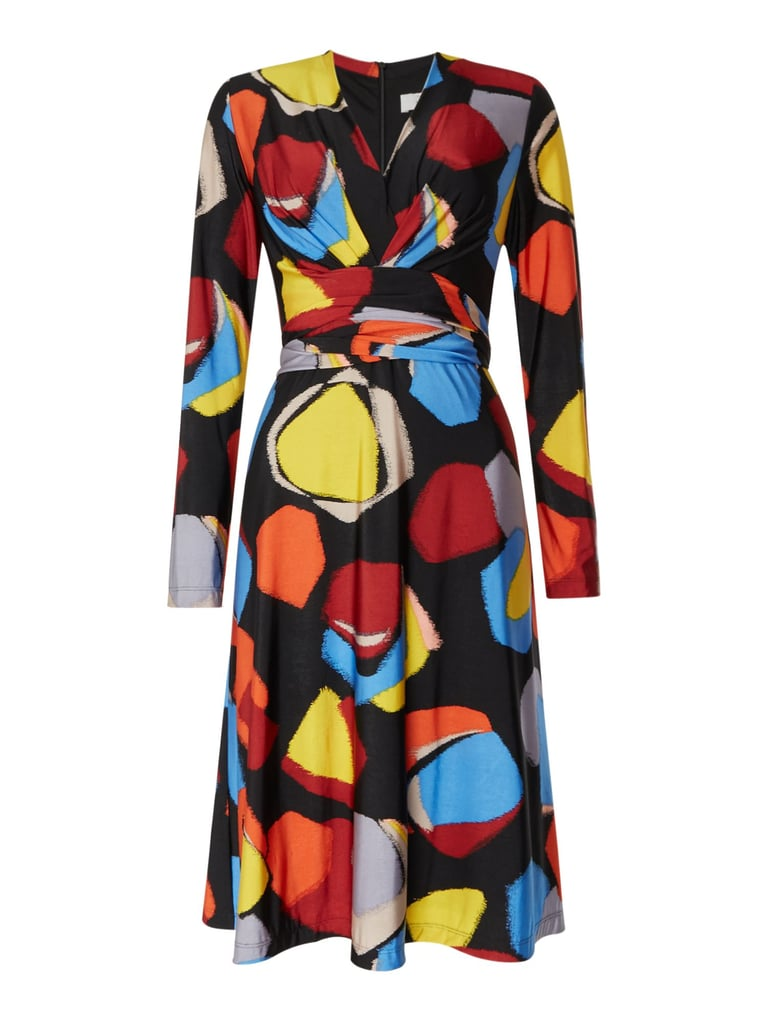 Issa Kate Tie Printed Wrap Dress