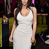 Kim Kardashian White Dress at Lorraine Schwartz Event 2018