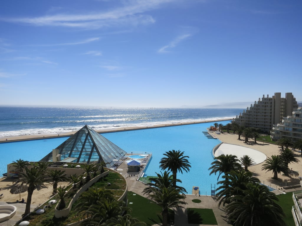 Swim in the Largest Pool in the World at San Alfonso Del Mar, Chile