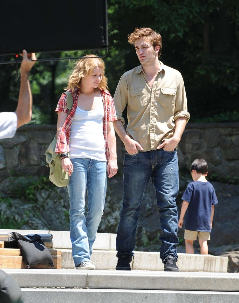 Photos of Robert Pattinson and Emile on Set