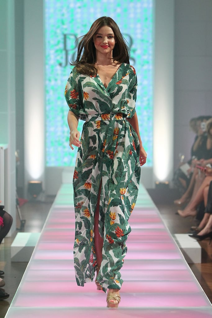 Miranda Kerr strutted down the runway at the David Jones Season Launch show.