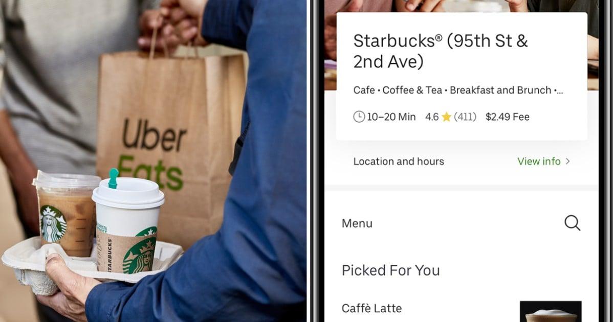 Starbucks Announces Uber Eats Delivery App | POPSUGAR Food