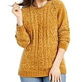 Karen Scott Cable-Knit Chenille Sweater