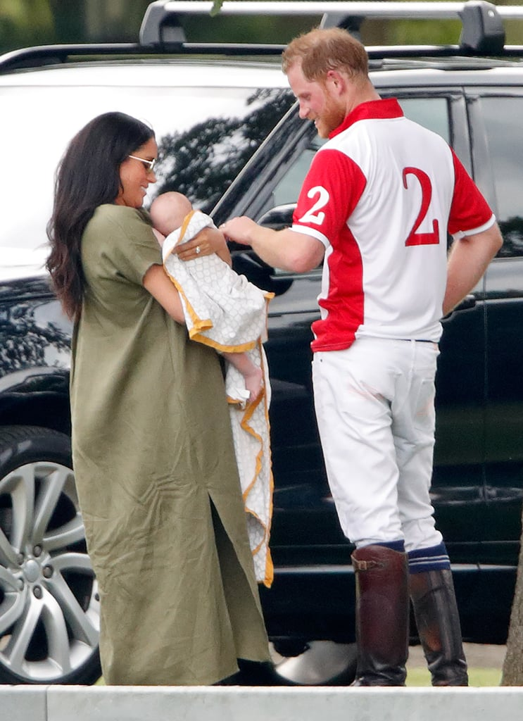 When He Stopped to Say Hi to Archie During a Polo Match