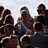Zara Phillips at her wedding cocktails.