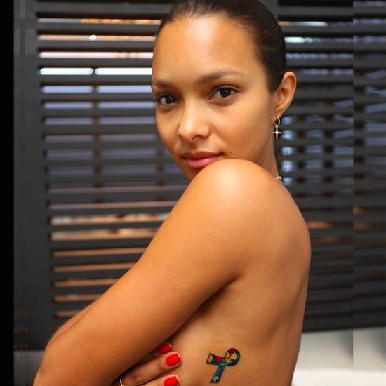 Lais Ribeiro Gets Autism Symbol Tattoo For Her Son
