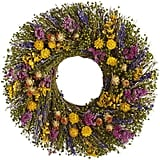 Preserved Fields Flower Wreath ($80)