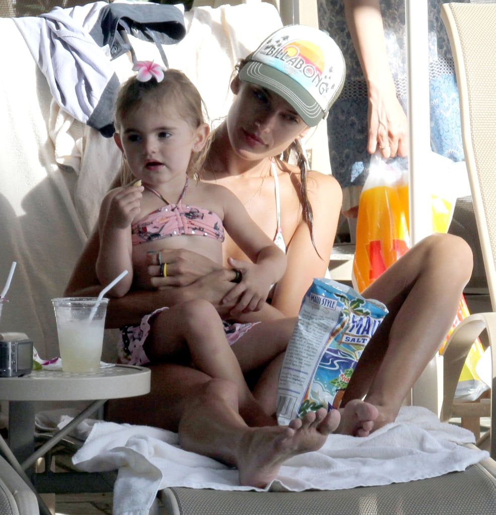 Alessandra Ambrosio with her daughter.