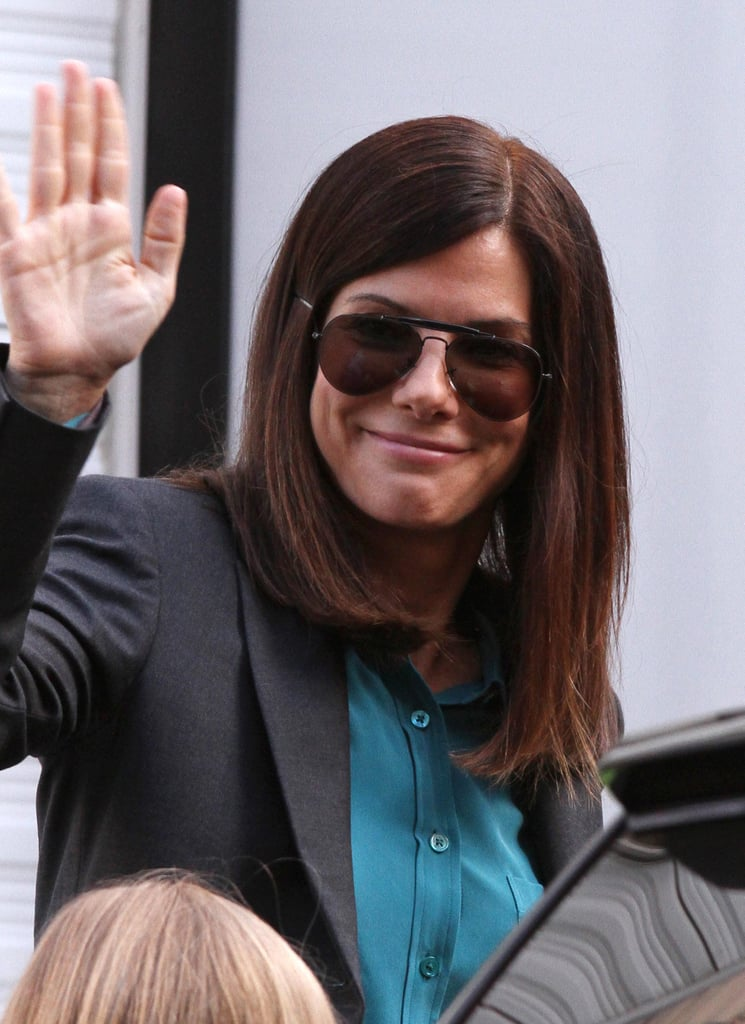 Sandra Bullock waved.