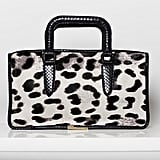 Diglam Pony Satchel in Grey/Cream Leopard Photo courtesy of Tamara Mellon