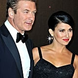 Alec Baldwin posed with fiancée Hilaria Thomas on the way into the opening night dinner at the Cannes Film Festival.