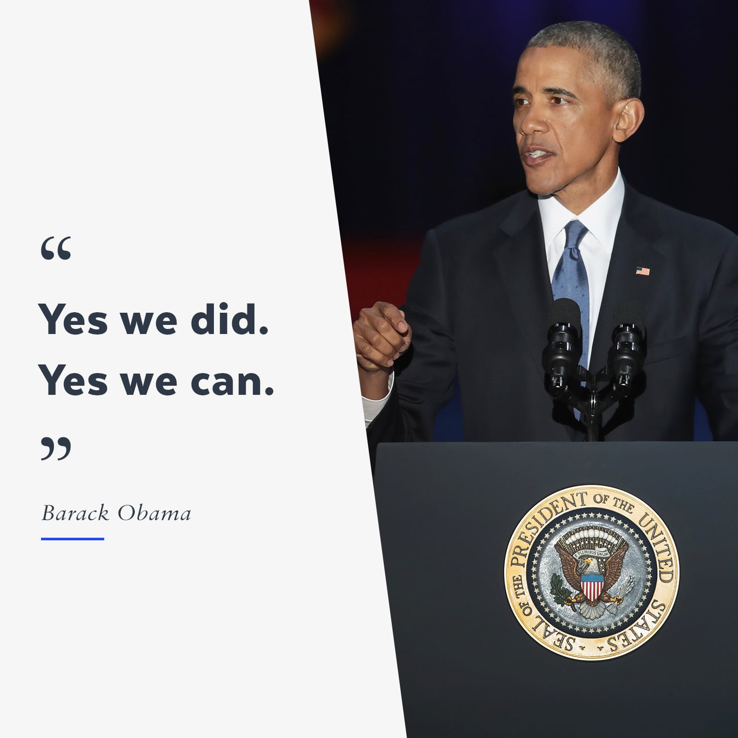 Presidents Quotes Obama's Final Speech As President  Video  Popsugar News
