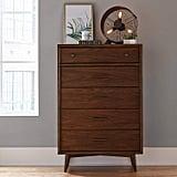 Rivet Jonathan Mid-Century Modern Wood Bedroom Dresser