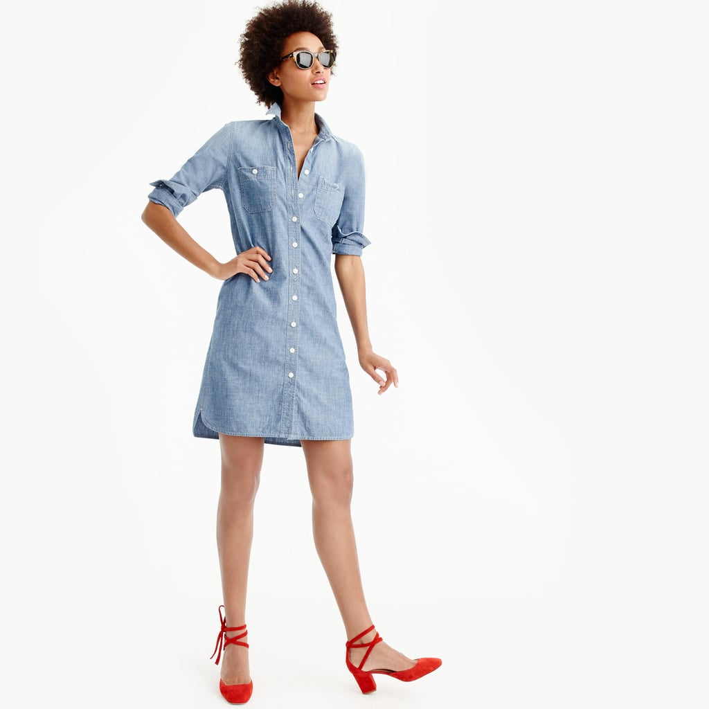 A shirtdress from J.Crew ($70) is as classic as it gets. Ditch your heavy button downs for this one, which you can wear with lace-up heels or a pair of mules.