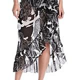 Fuzzi Printed Ruffle Wrap Skirt