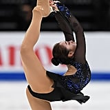 Joanna So Wearing Over-the-Boot Tights at Four Continents in 2019