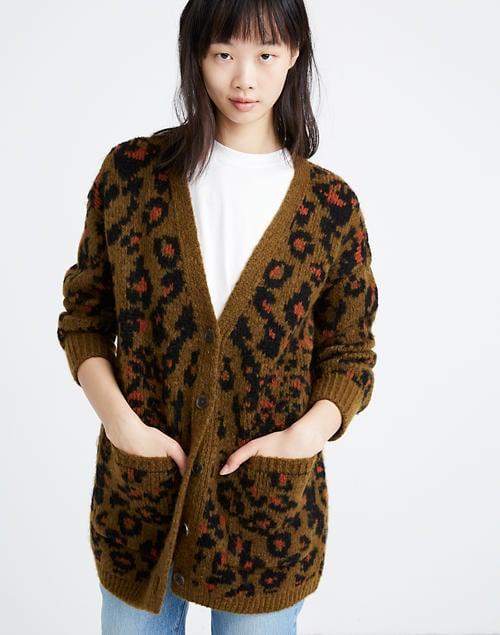 Madewell Jungle Cat Cardigan Sweater