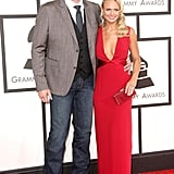 Blake Shelton and Miranda Lambert at the 2014 Grammy Awards.