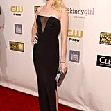 Naomi Watts amped up the sexy factor with this sheer-inset cutout on her strapless Emilio Pucci gown.