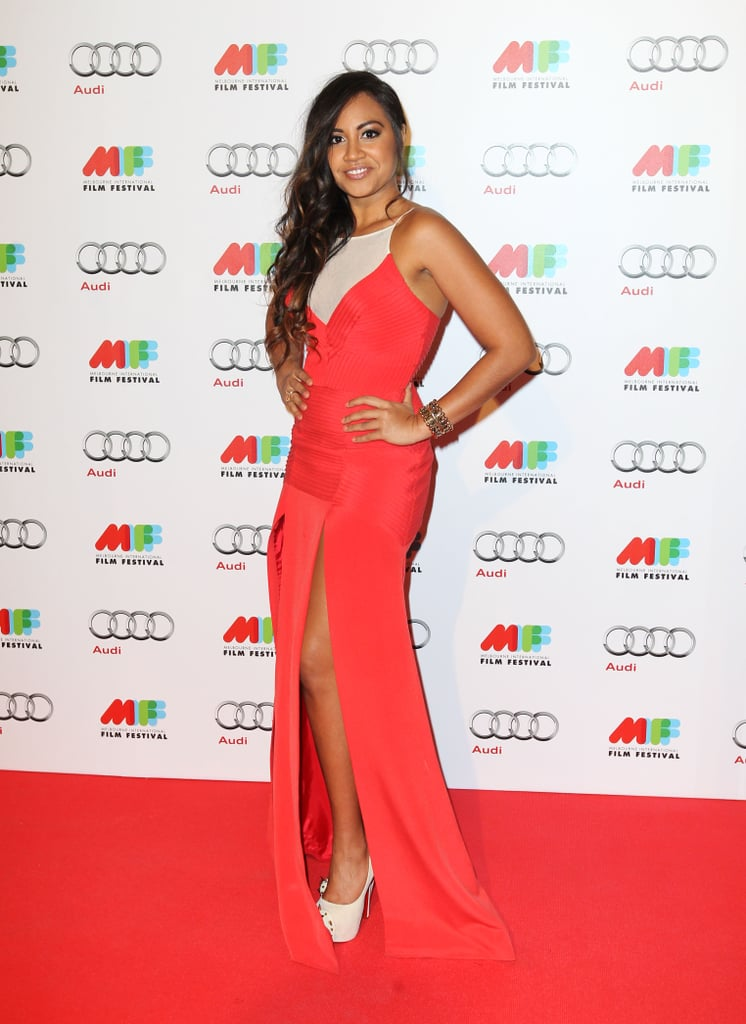 Jessica Mauboy in Yeojin Bae at the Sapphires Melbourne Premiere