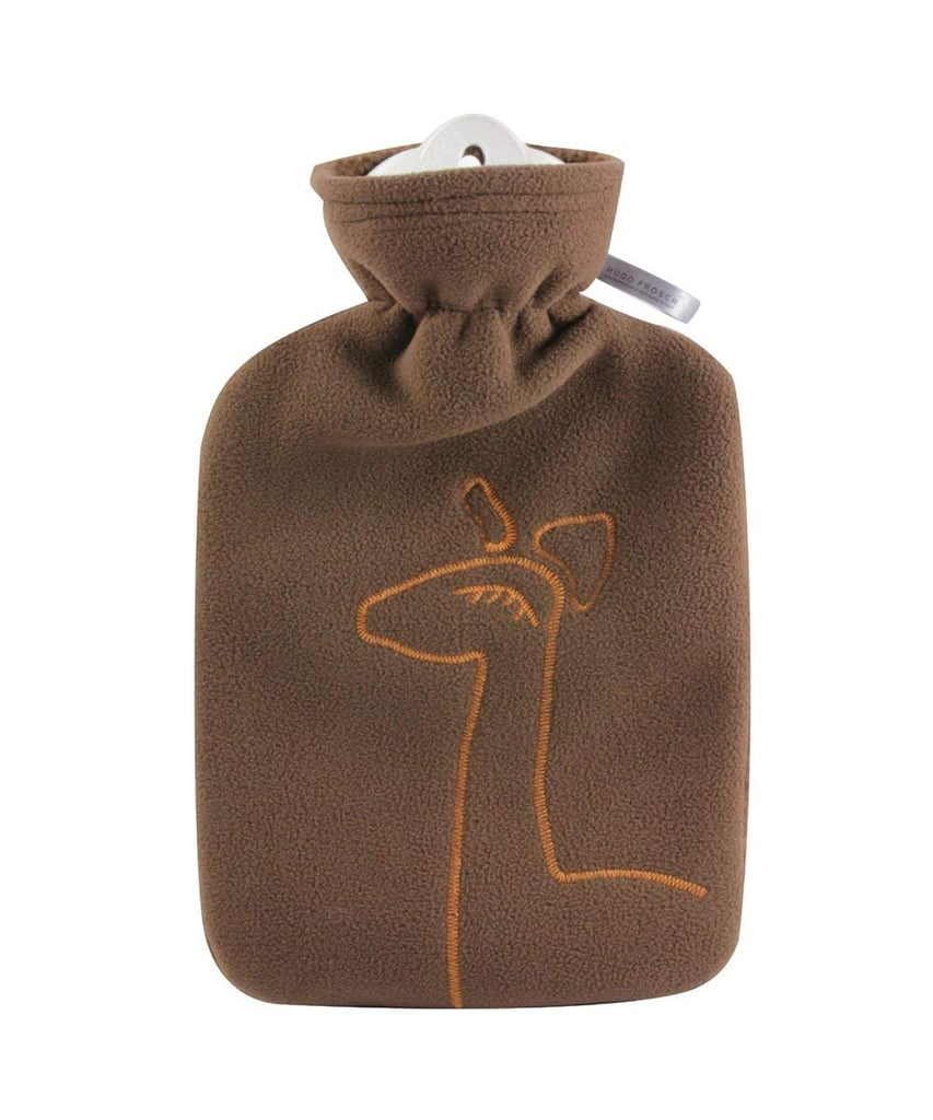 Hugo Frosch Hot-Water Bottle With Fleece Cover With Deer Application in Chocolate ($26)