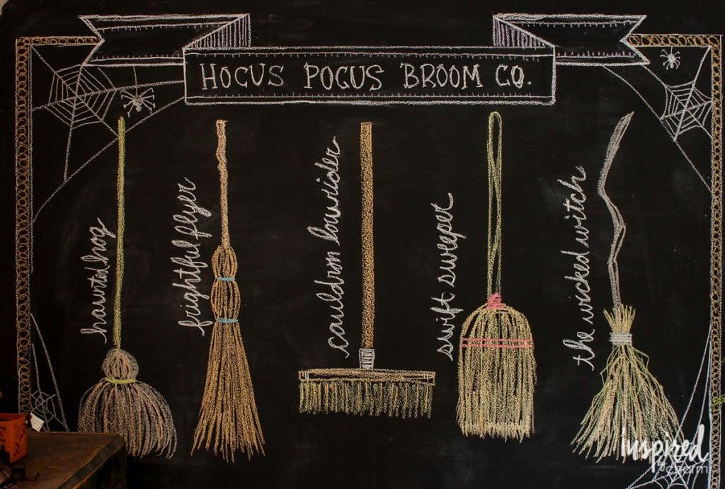 hocus pocus broom co chalkboard design hocus pocus halloween