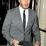 David Beckham in London.