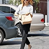 Sienna Miller shopped at the Brentwood Country Mart in LA on Thursday.