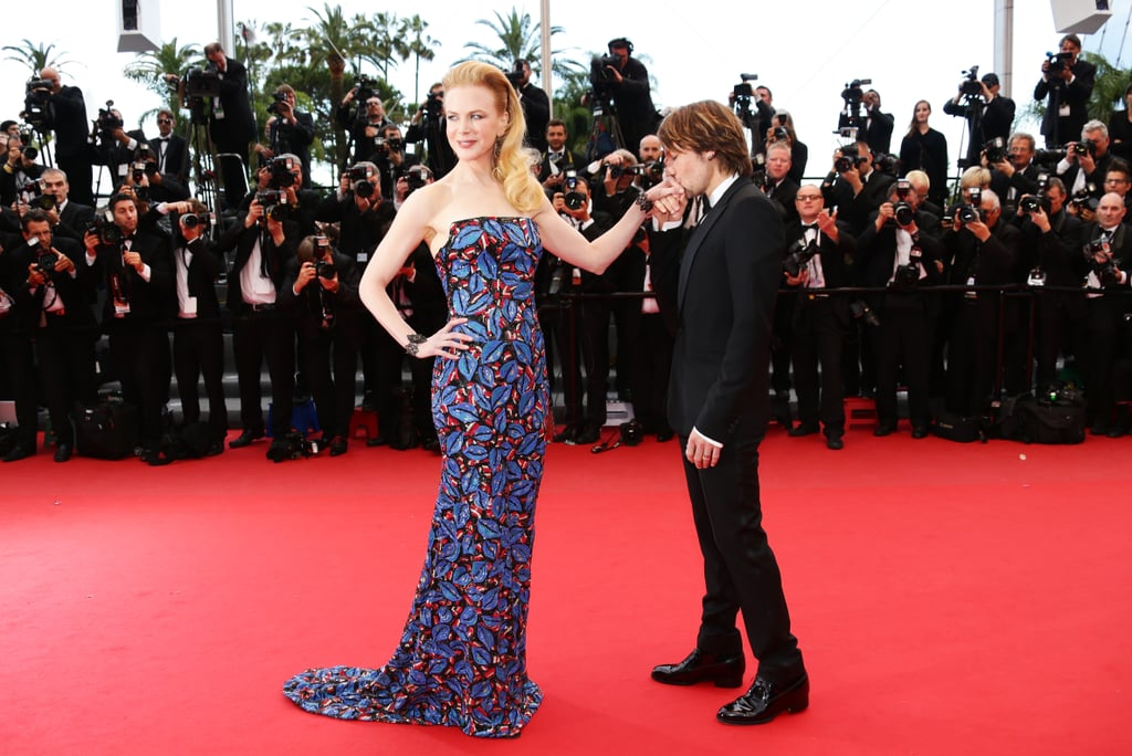 Nicole Kidman and Keith Urban are celebrating their ninth anniversary on Thursday! The couple has been spreading love all over the globe ever since they first started dating back in 2005. From their picture-perfect red carpet moments at the Cannes Film Festival to their cuddly appearances at award shows, this hot Australian duo does not shy away from showing PDA. Keep reading to see all of their best moments, and then take a look at even more sweet celebrity PDA.