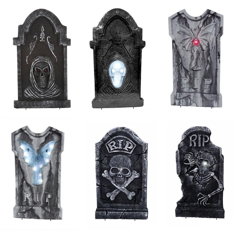 LED Illuminated Halloween Graveyard Tombstone Assortment ($17)