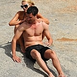 Paris Hilton and her new man spent the afternoon together on Cavallo Island.