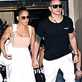 Jennifer Lopez and Casper Smart had a birthday lunch for her in NYC.