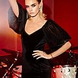 Cara Delevinge Big Love Velvet Dress