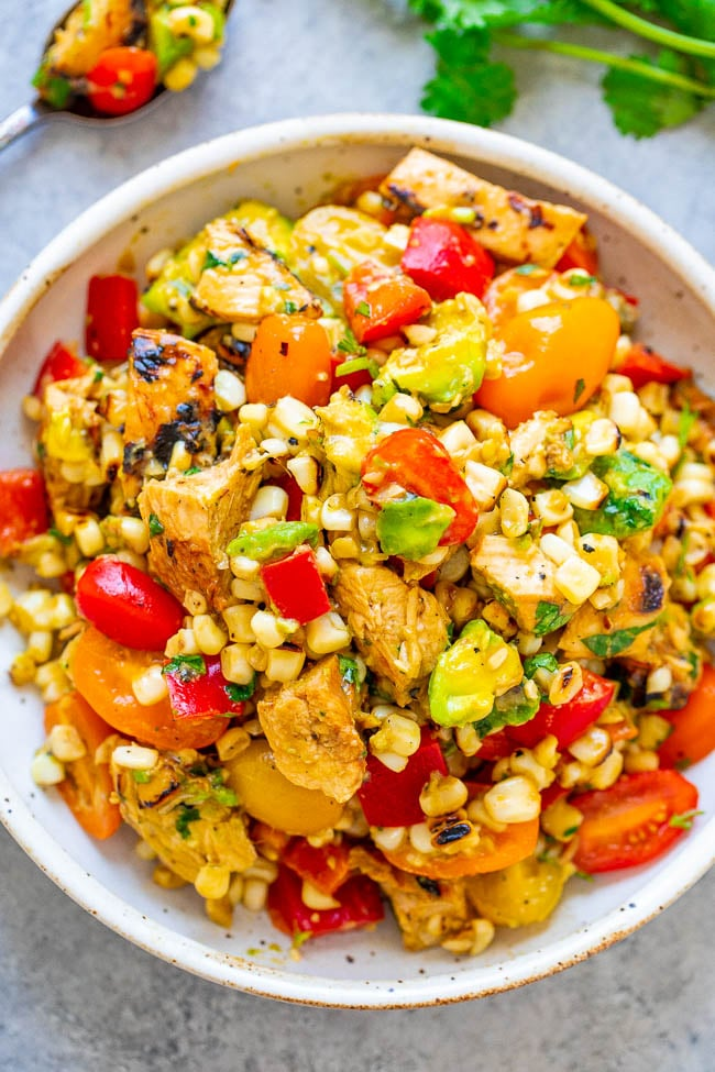 Grilled Chicken and Corn Salad