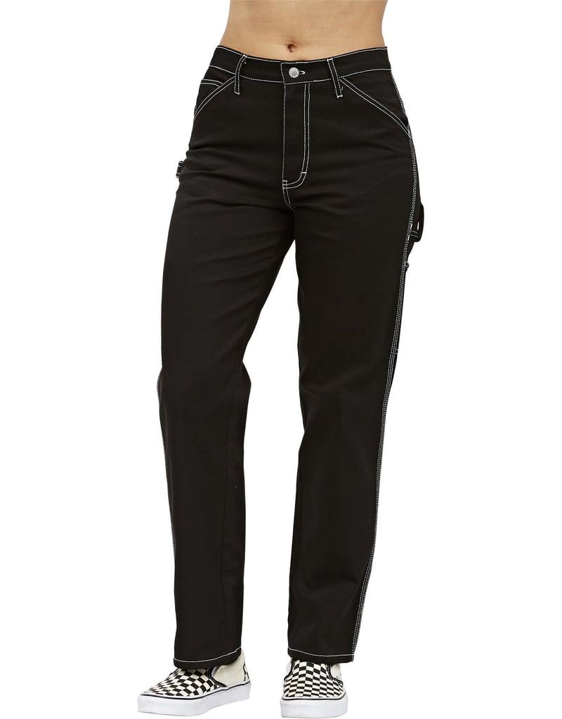 Dickies Girl Juniors' Relaxed Fit Carpenter Pants, Black ($50)
