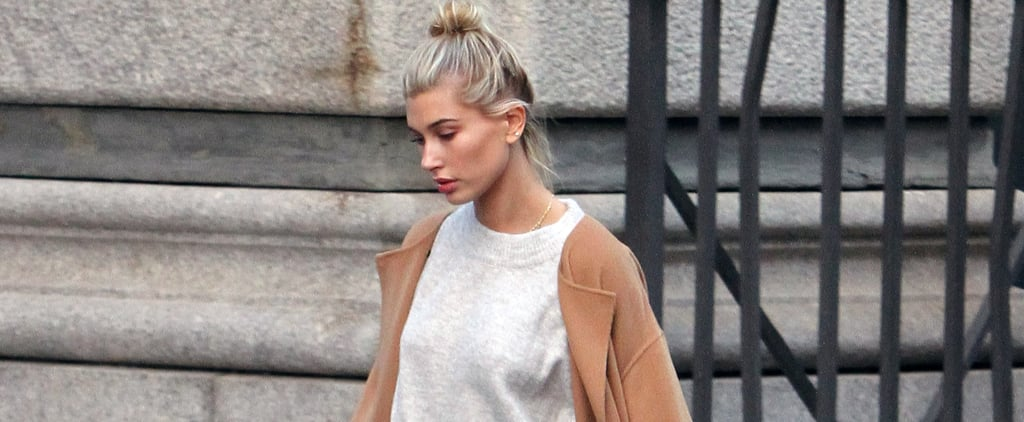 Hailey Baldwin Just Wore The 1 Thing We All Need For Awkward Weather