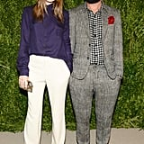 Dree Hemingway with last year's CFDA/Vogue Fashion Fund winner Greg Chait, who designs The Elder Statesman.