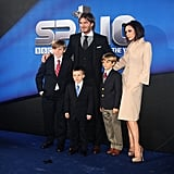 David Beckham was honored as the BBC Sports Personality of the Year in 2010, and Victoria Beckham, Brooklyn, Romeo, and Cruz all dressed and joined him at the London event in December of that year.