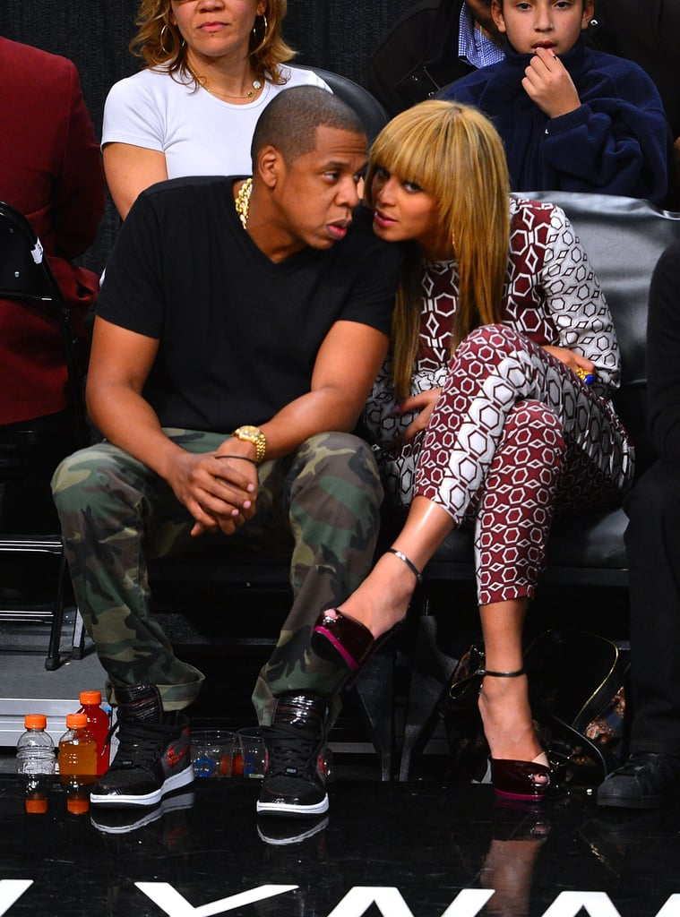 Beyoncé Knowles and Jay-Z hung out in Brooklyn.