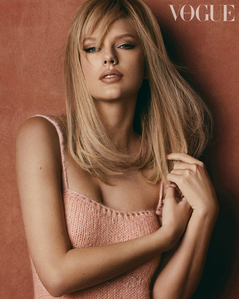 Taylor Swift's Side Fringe on British Vogue Cover January