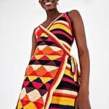 Farm Rio Crochet T-Wrap Dress