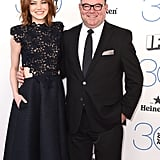 Emma Stone's dad, Jeff, accompanied the actress to the Independent Spirit Awards.