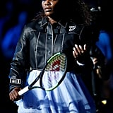 Serena's Off-White Leather Jacket
